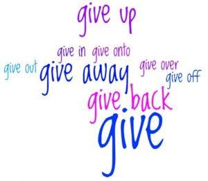 Фразовые глаголы make give