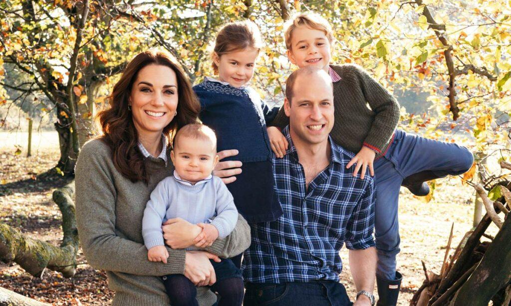 Герцог и Герцогиня Кэмбриджские с детьми