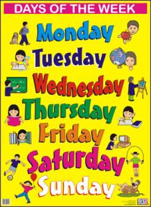 Месяцы и дни недели